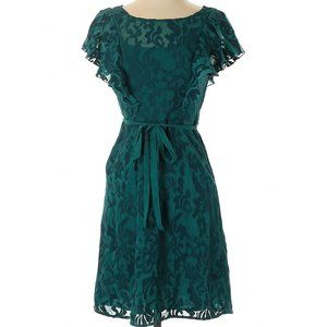 Anthropologie Floral Lace Cocktail Dress